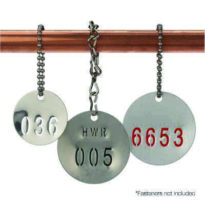 Custom Stamped Stainless Steel Valve Tags