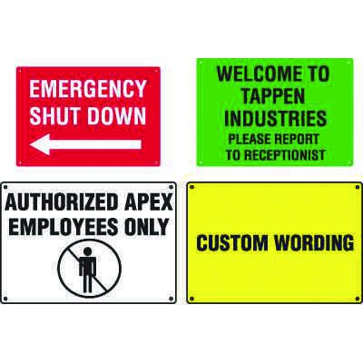 Custom Workplace and Facility Signs