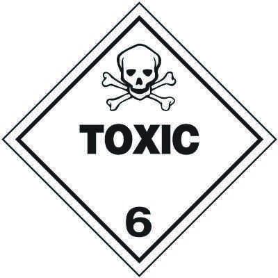 Toxic 6 D.O.T. Placards