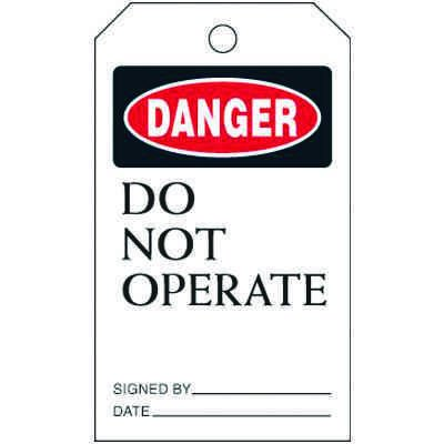 Danger Do Not Operate - Lockout Tags On-A-Roll