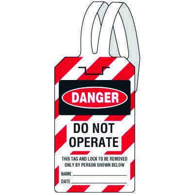Danger Do Not Operate - Self-Fastening Lockout Tag