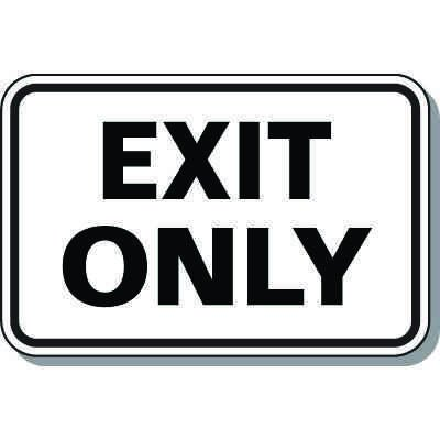 Directional Parking Signs - Exit Only