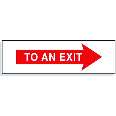 To An Exit with Right Facing Arrow- Directional Signs