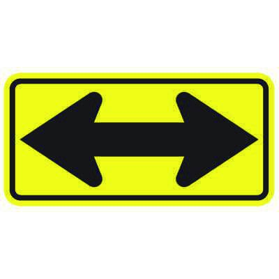 Double Arrow Signs - Yellow/Black