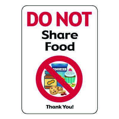 Do Not Share Food Sign
