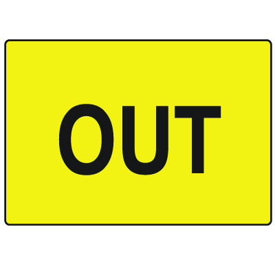 Door Safety Signs - Out