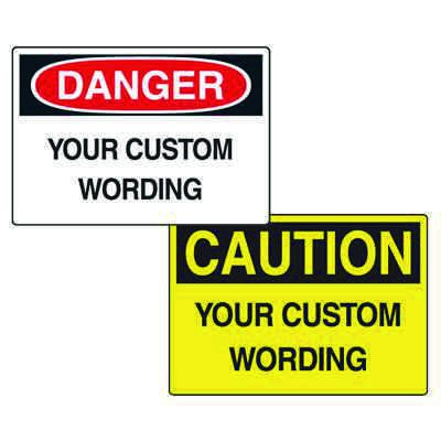 Custom Double Sided Hanging OSHA Safety Signs