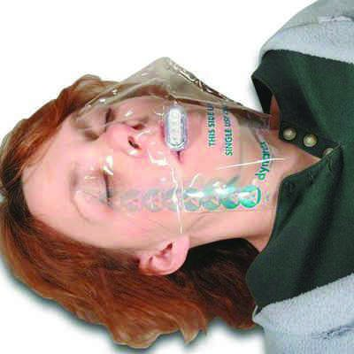 Dynarex CPR Face Shield with One-Way Valve 4921