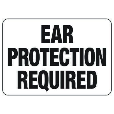 Ear Protection Required - Machine Safety Signs