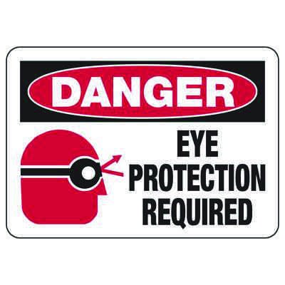 Danger Eye Protection Required - PPE Sign