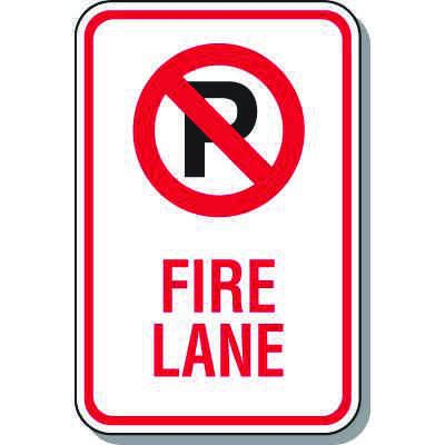 Fire Lane Signs - Fire Lane (With Graphic)