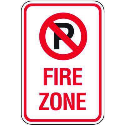 Fire Lane Signs - Fire Zone (No Parking Symbol)
