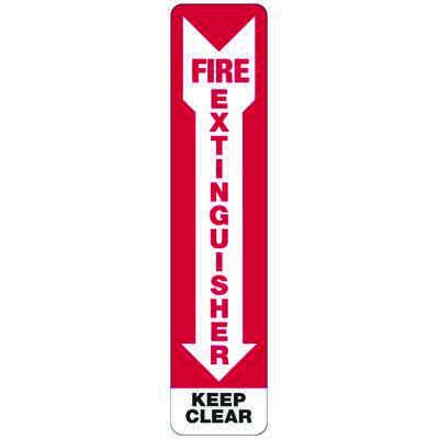 Fire Exinguisher Keep Clear - Industrial Fire Signs