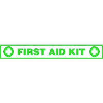 First Aid Kit Floor Label