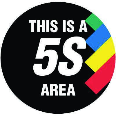 Floor Signs - This is a 5S Area