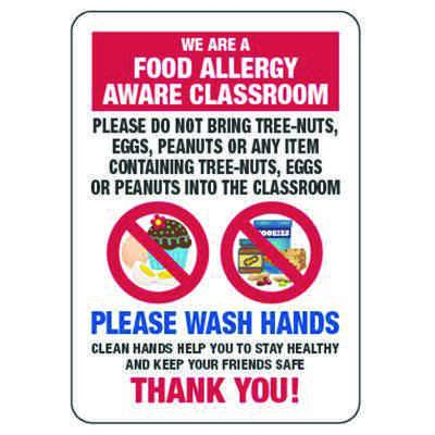 Food Allergy Aware Class Do Not Bring Nuts, Eggs - Food Allergy Signs
