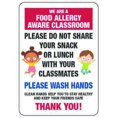 Food Allergy Aware Class Do Not Share Snack - Food Allergy Signs