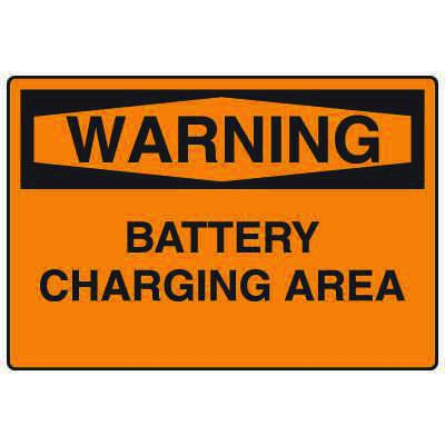 Forklift Safety Signs - Warning Battery Charging Area