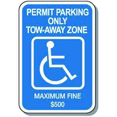 Georgia State Handicap Signs - Parking Permit Only