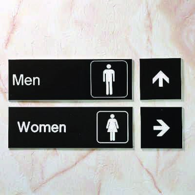 Girls - Small Engraved Restroom Signs