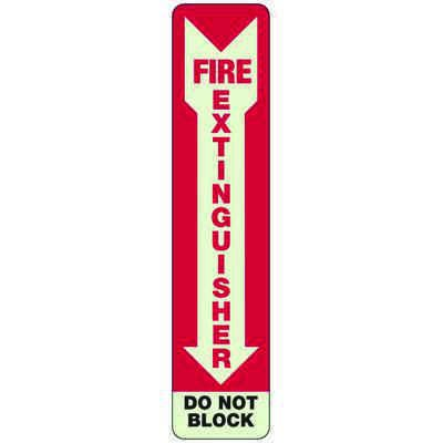 Do Not Block Fire Extinguisher - Exit and Fire Glow Signs