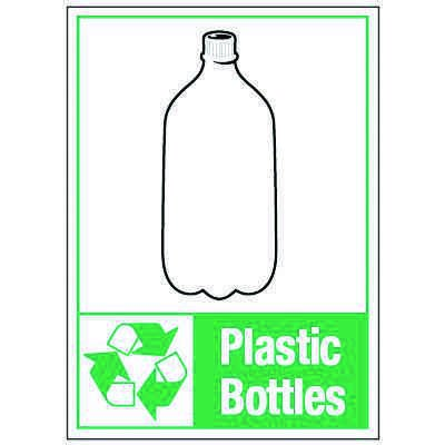 Graphic Recycling Labels - Plastic Bottle
