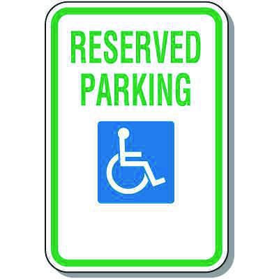 Handicapped Parking Signs - Reserved Parking