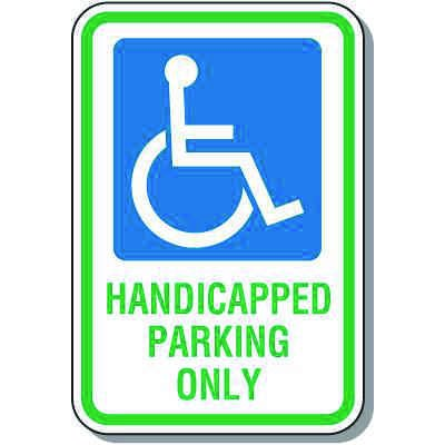 Handicap Signs - Handicapped Parking Only (Symbol of Access)