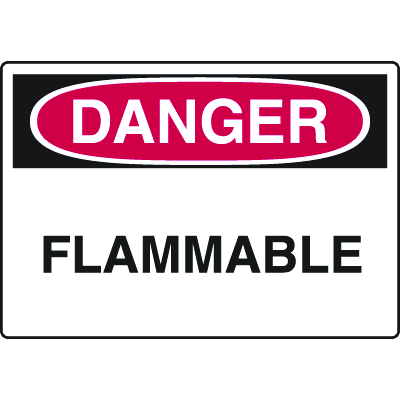 Harsh Condition OSHA Signs - Danger - Flammable