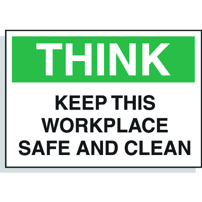 Hazard Warning Labels - Think Keep This Workplace Safe And Clean