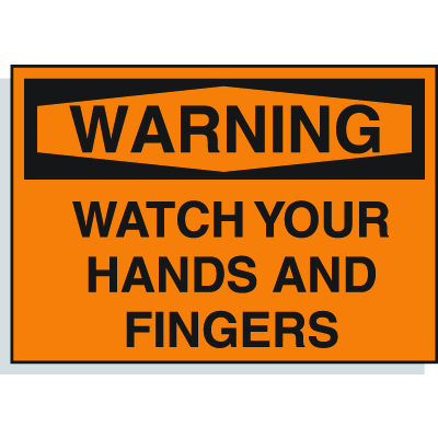 Hazard Warning Labels - Watch Your Hands And Fingers