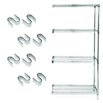 Chrome Wire Shelving Add-On Kit