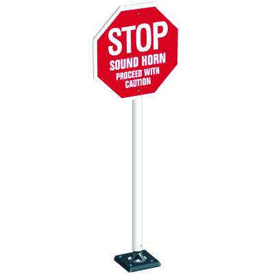 Flexible Stop Sign System - Stop Sound Horn