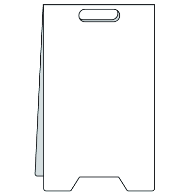 Heavy Duty Floor Stand Signs- Blank