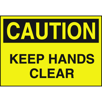 High Performance SetonUltraTuff™ Polyester Labels - Keep Hands Clear