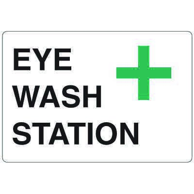 High Visibility Overhead Signs - Eye Wash Station