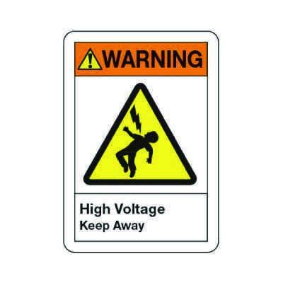 ANSI Warning Sign - High Voltage Keep Away
