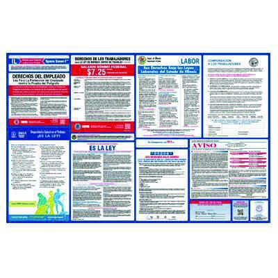 Illinois Spanish Labor Law Poster with 1 Year Subscription