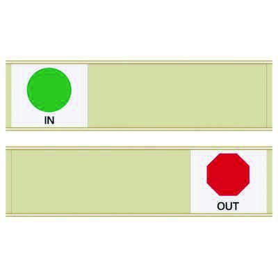 In/Out - Blank Sign Sliders