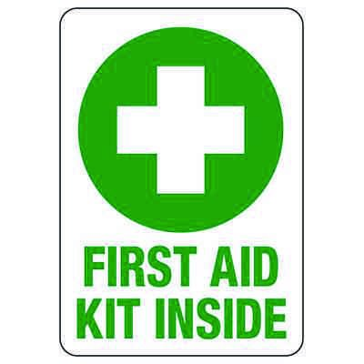 First Aid Signs - First Aid Kit Inside