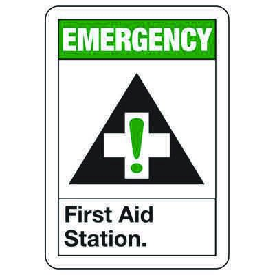Emergency First Aid Station - First Aid Sign