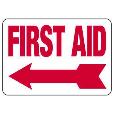 First Aid (Left Arrow) - First Aid Signs