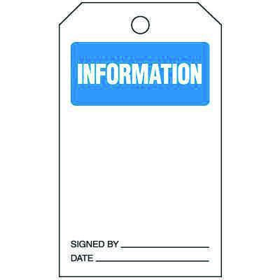Information - Safety Tags On-A-Roll