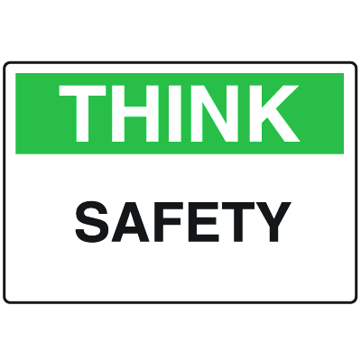 OSHA Informational Signs - Think Safety