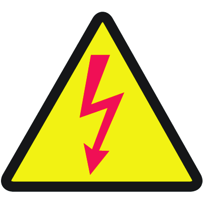 International Symbols Labels - High Voltage