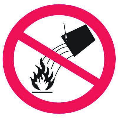 International Symbols Labels - Do Not Extinguish With Water