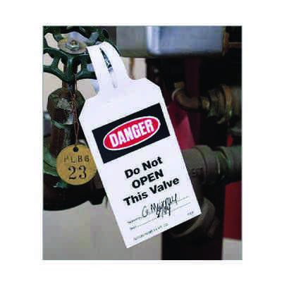 Lock-On Safety Tags - Notice Header Only