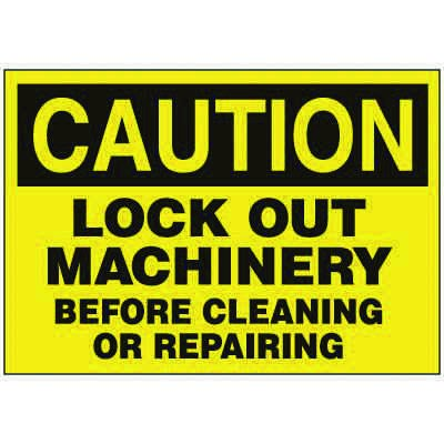 Lockout Hazard Warning Labels - Caution Lock Out