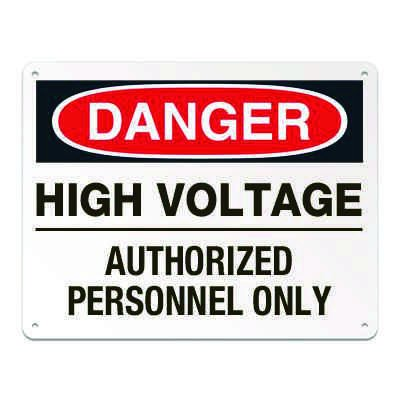 Lockout/Electrical Signs - High Voltage Authorized Personnel Only