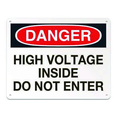 Lockout/Electrical Signs - High Voltage Inside Do Not Enter